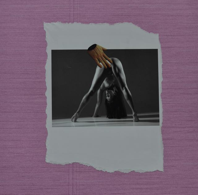 collage, vrouw, hand, naakt, spreidstand